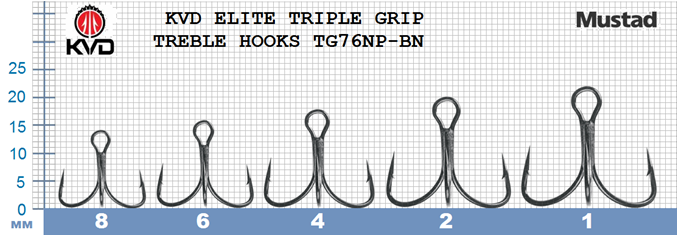 Mustad TG76NP-BN KVD Elite Series Treble Hook