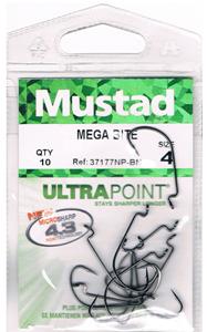 Офсетные крючки Mustad 37177NP-BN Mega Bite