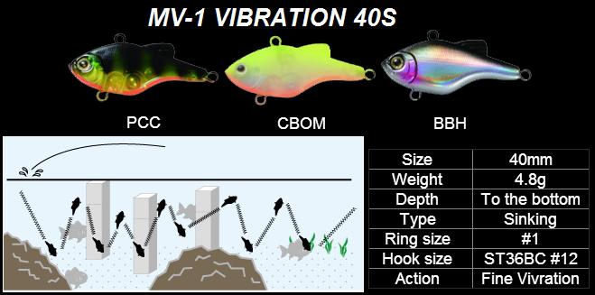 Воблер MARIA MV-1 VIBRATION 40S