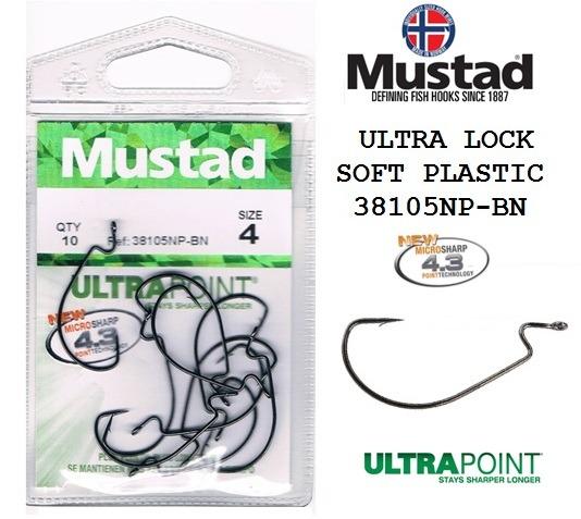 офсетные крючки ULTRA LOCK SOFT PLASTIC 38105NP-BN