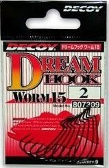 Крючки офсетные DECOY - WORM 15 DREAM HOOK