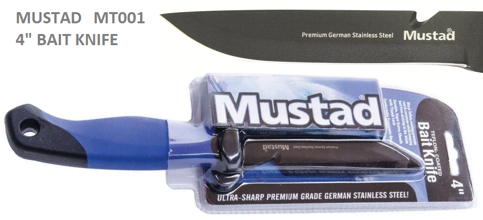 MUSTAD 4 BAIT KNIFE-MT001-GERMAN STAINLESS STEEL